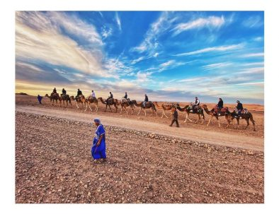 camel trekking with our Marrakech desert tour 2 days to Zagora