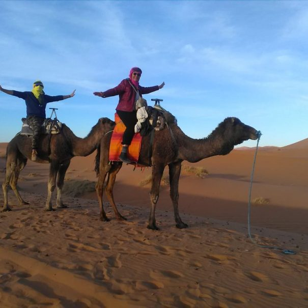 camel trekking with our tour