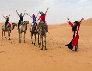 Morocco desert Safari tour offers camel trekking and camping at Berber tents, they are the best of our Morocco tours activities
